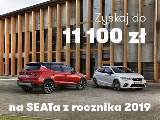 Zyskaj do 11 100 zł na SEAT-a z rocznika 2019